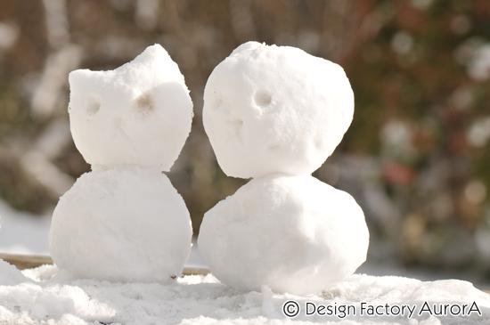 仲良し雪だるま