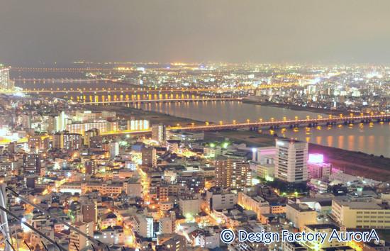 梅田空中庭園展望台 屋上からの夜景