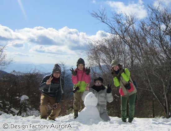 集合写真 with 雪だるま